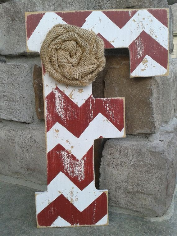 Pottery barn style Chevron letters by BlessHerHeartDesigns on Etsy, $18.00