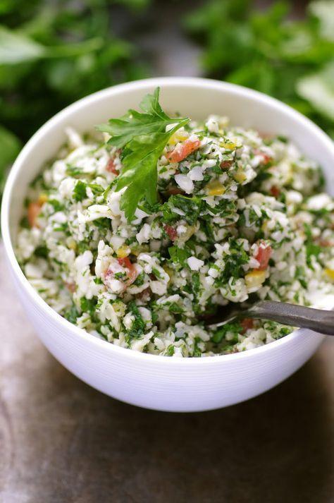 MY HOME-MADE : Taboulé de Chou-Fleur aux Herbes et Citron Confit #vegan #végétal #salé