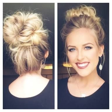Image result for high messy bun
