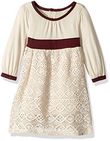 Burt's Bees Baby Baby Organic Crochet Skirt Dress, Winter Wool, 0-3 Months