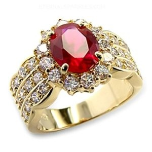 Gold Plated Ruby CZ Cocktail Fashion Ring Size-5 --- http://www.pinterest.com.itshot.me/149: Cocktails Rings, Ruby Rings, Cz Cocktails, Plates Ruby, Gold Plates, Ruby Cz, Fashion Rings, Rings Size, Cocktails Fashion
