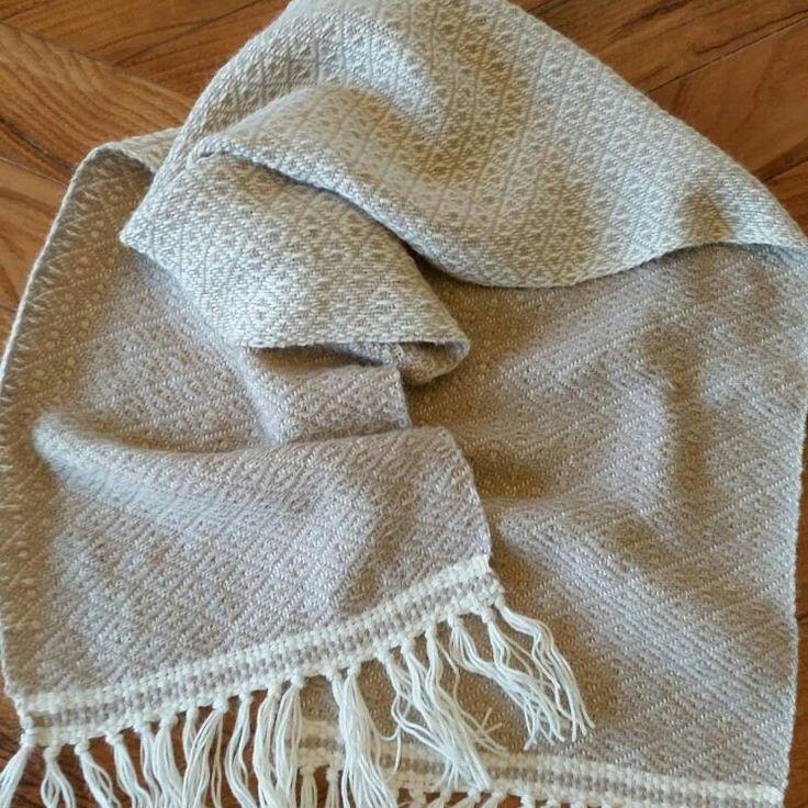 Sciarpa 100 % di lana di alpaca tessuta a mano con il mio telaio manuale. Idea regalo, Natale, Compleanno