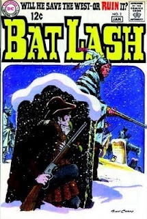 BAT LASH was a character created & written by MAD MAGAZINE'S maddest cartoonist Sergio Aragones, with some help by Denny O'Neil and drawn by the spectacular Nick Cardy. He was a Western character who was a bit of a rogue, who enjoyed playing cards almost as much as he did getting in trouble with the ladies- or was that the other way around.: Bats Lashes, Comic Books, Comic Covers, Vintage Comic, Dc Comic, Comic Art, Nick Cardi, Finest Artists, Comicbatlash02 Comic