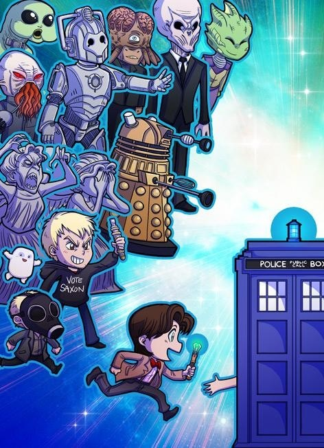 Very cute Doctor Who graphic from Chandler, AZ based artist, Val Hochberg.