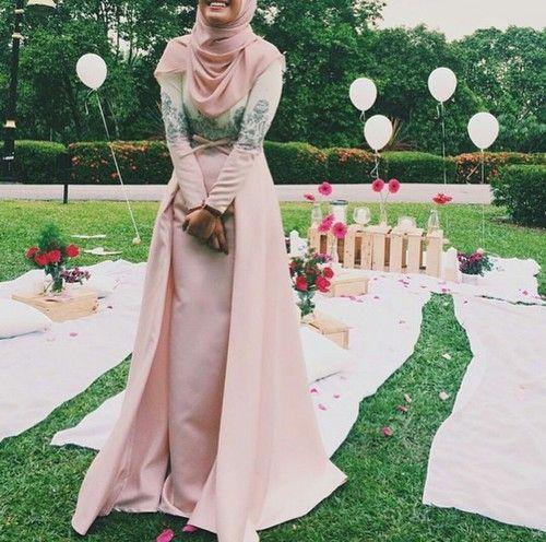 hijab, beauty, and dress image
