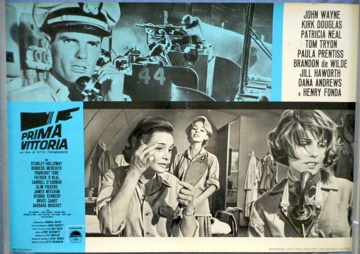 "IN HARM'S WAY Patricia Neal Saul Bass Art Original Italian 18"" x 26"" 1965"