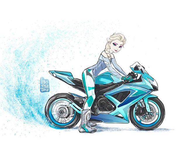 Elsa Frozen ️ One More Disney Princess On Bike
