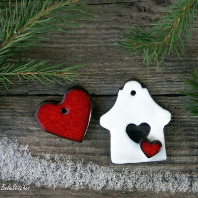 Bela Stitches: Ceramic gingerbread cookies / Gliniane pierniczki.