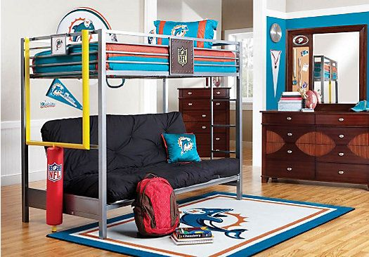 shop for a nfl redzone 6 pc twin loft bedroom at rooms to go kids find that will look great in. Black Bedroom Furniture Sets. Home Design Ideas