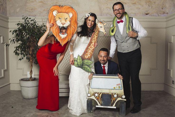 Photocall safari para bodas y eventos de Fandi.es