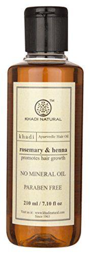 Khadi Natural Herbal Ayurvedic Rosemary and Henna Hair Oil (210 ml)