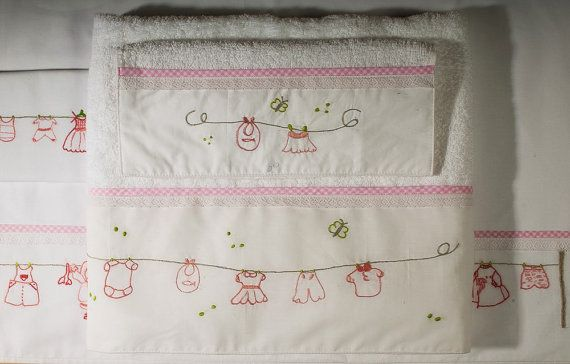 Set 2 baby towels bath and handhand by babysdreamfairytales