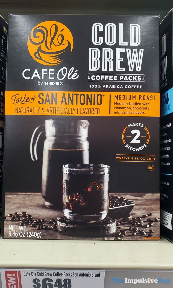 Cafe Ole by H-E-B Taste of San Antonio Cold Brew Coffee ...