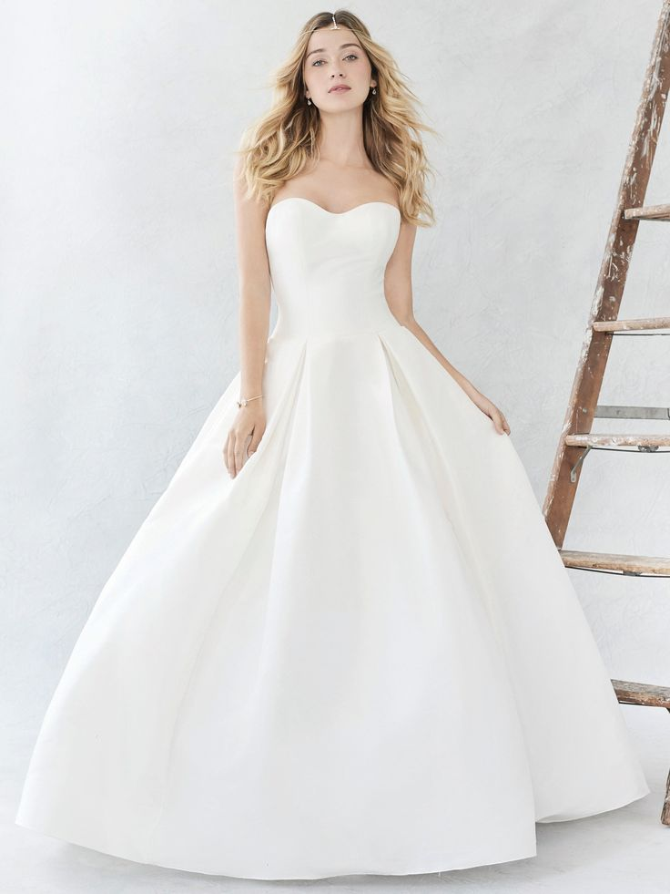 Ella Rosa Style BE374 | classic and clean mikado gown | romantic wedding dress |…