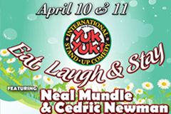 We have another funny #YukYuks weekend coming up featuring Neal Mundle & Cedric Newman!