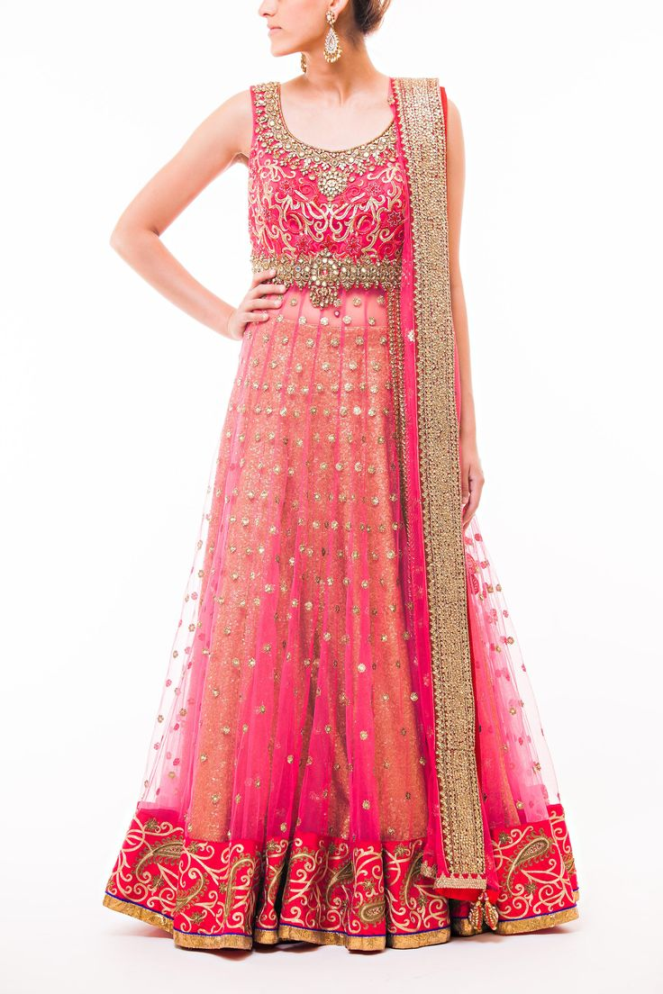 Wellgroomed Designs- Coral – Gold Lacha