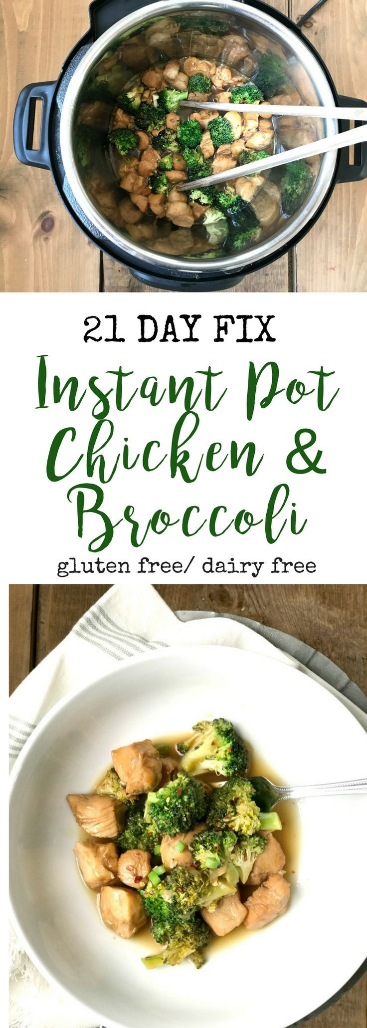 Instant Pot Chicken and Broccoli | Confessions of a Fit Foodie