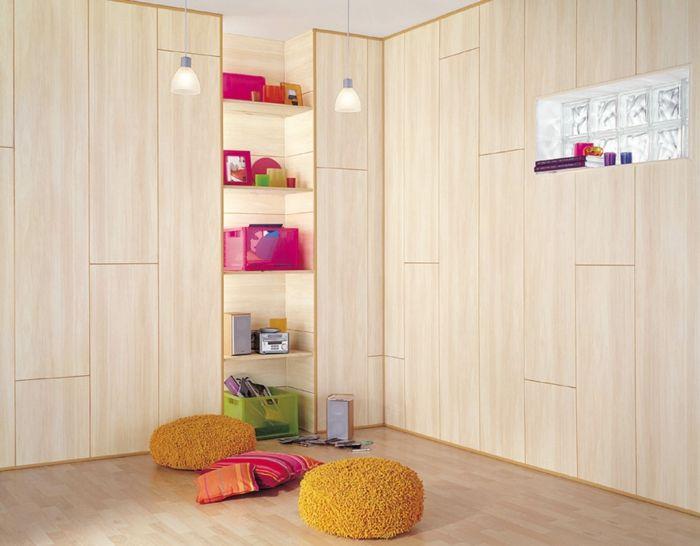 kreative wandgestaltung holzverkleidung innen deko ideen zimmerverkleidung - Gemutliche Holzverkleidung Innen