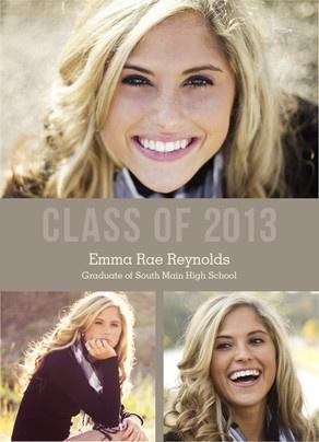 Class of 2013 Multi-photo Tan Graduation Announcement