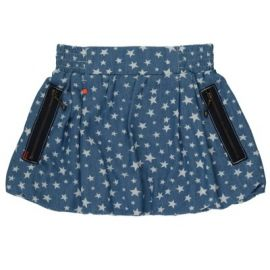 Skirt: Bea Star Indigo Puffball 2-3y only