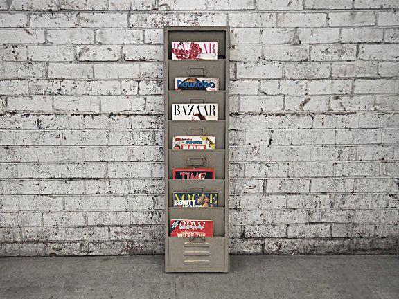 Retro Hanging Magazine Rack - Cafe Newspaper Stand
