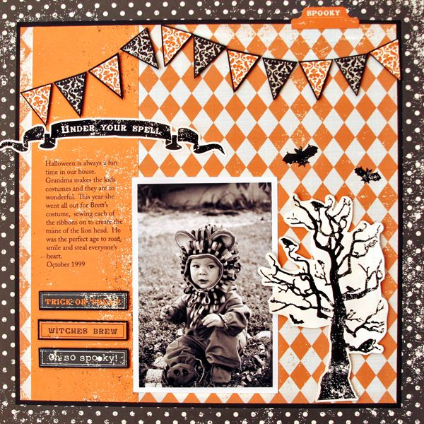 Under Your Spell - Scrapbook.com - Terrific halloween page. #scrapbooking #halloween #echopark