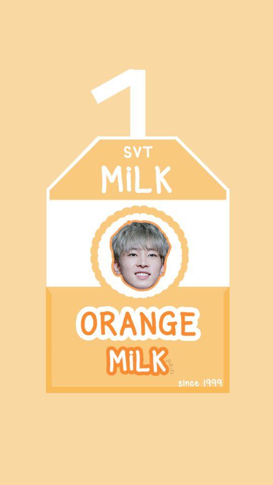 SEVENTEEN MILK BOX [ORANGE MILK - WONWOO] #seventeen #svt #carat #17 #love&letter #repackagealbum #verynice #scoups #hoshi #jun #joshua #woozi #dokyeom #mingyu #the8 #vernon #seungkwan #jeonghan #wonwoo #dino #wallpaper