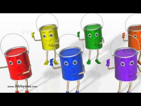 ▶ Color Songs - 3D Animation Learning Colors Nursery Rhymes for children - YouTube