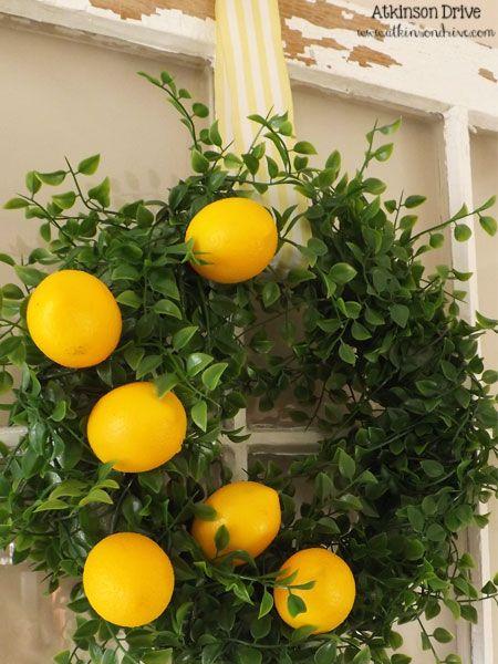 Spring Lemon Wreath | Atkinson Drive