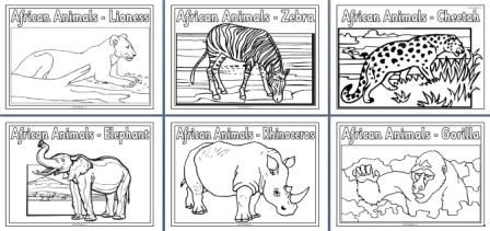 Free African Animals Coloring Pages