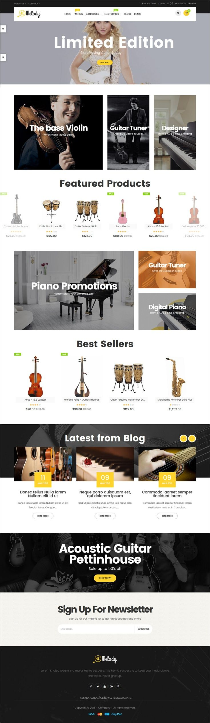 Pav Melody is a creative and powerful 4in1 #Opencart theme for musical #instruments online #shop eCommerce website download now➩ https://themeforest.net/item/pav-melody-best-musical-instruments-opencart-theme/18851193?ref=Datasata