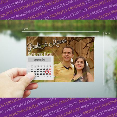 Save the date magnético - casamento