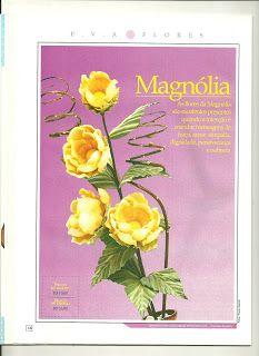 Alegria do Artesanato: Passo a Passo da Flor Magnólia em EVA.