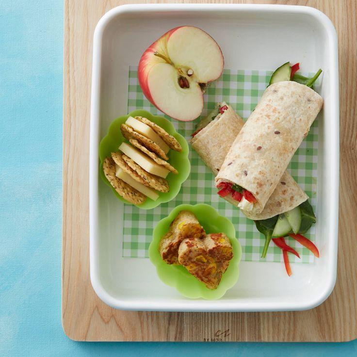 Egg & Veggie Wrap + Snacks