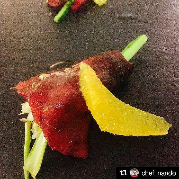 La Bellezza nel Piatto! Con #ricettedibacco grazie a @chef_nando Involtino di Tonno....