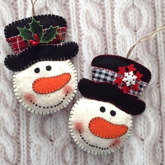Muñeco de nieve adornos adornos de árbol de Navidad