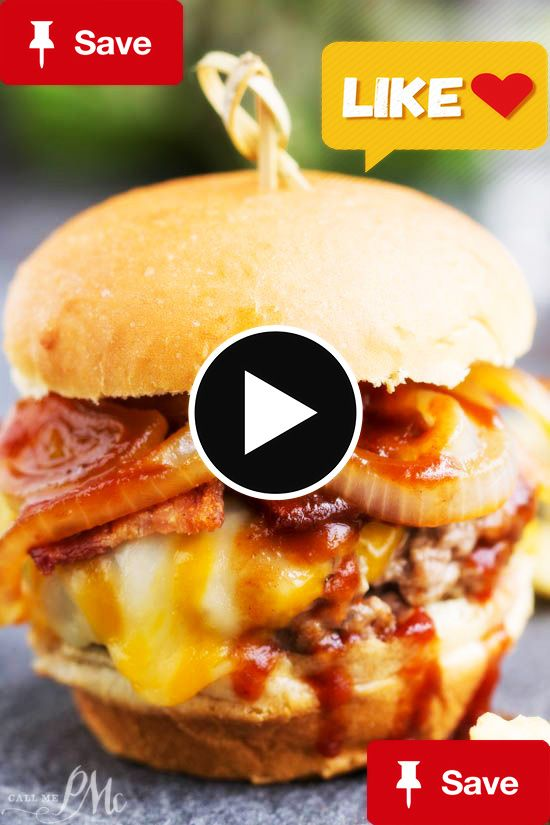 The ultimate burger  The ultimate burger recipe, Bourbon Burgers, are smothered with cheddar cheese, bacon, caramelized onions and bourbon barbecue sauce!