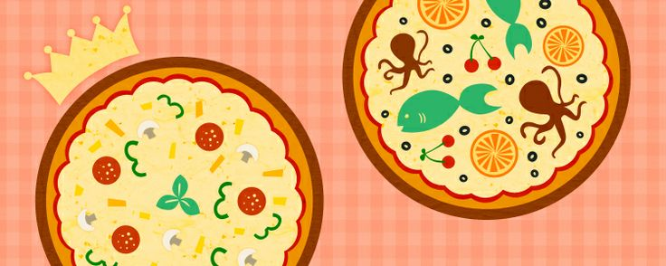 pizza illustration by Eleni Legaki
