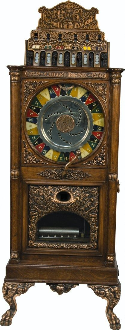 5 Cent Caille Big Six Upright Slot Machine