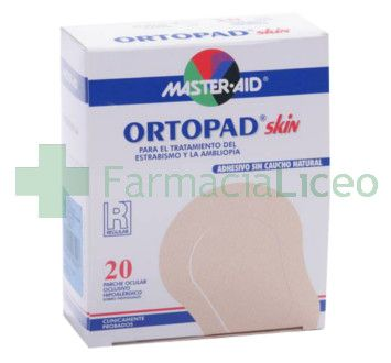 PARCHES OCULARES MASTER AID ORTOPAD REGULAR 20 P