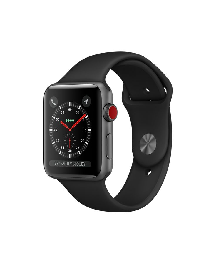 Shop Apple Watch Space Gray Aluminum Case with Black Sport Band in 38mm and 42mm. Available with built-in cellular. Buy now with free shipping.