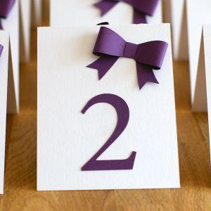 Esküvői asztaljelölő számtábla  Table Number Tent Cards