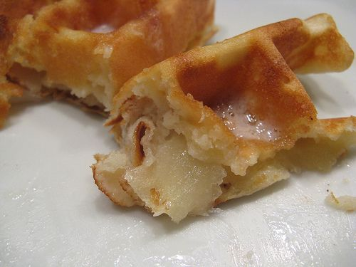 Apple Waffles--They were so easy and tasted great!  They freeze well too.