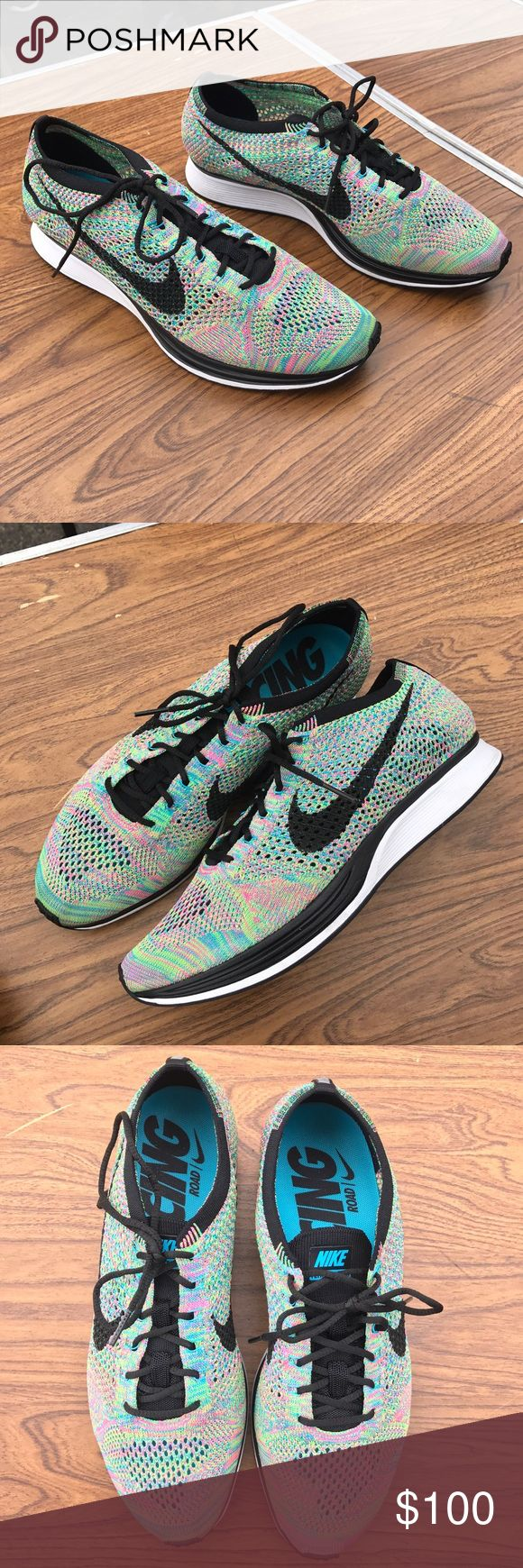Nike flyknit racer rainbow nwob Men's Nike flyknot racer / rainbow color / men's 10.5 // excellent condition // smudges from handling //hypebeast Nike Shoes Athletic Shoes