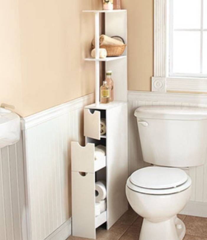 NEED for my tiny bathroom... found it on Ebay!  White Wooden Bathroom Space Saver Storage Linen Cabinet Shelves Bath Organizer: Guideline of Linen Cabinets for Bathrooms | Shower Remodel