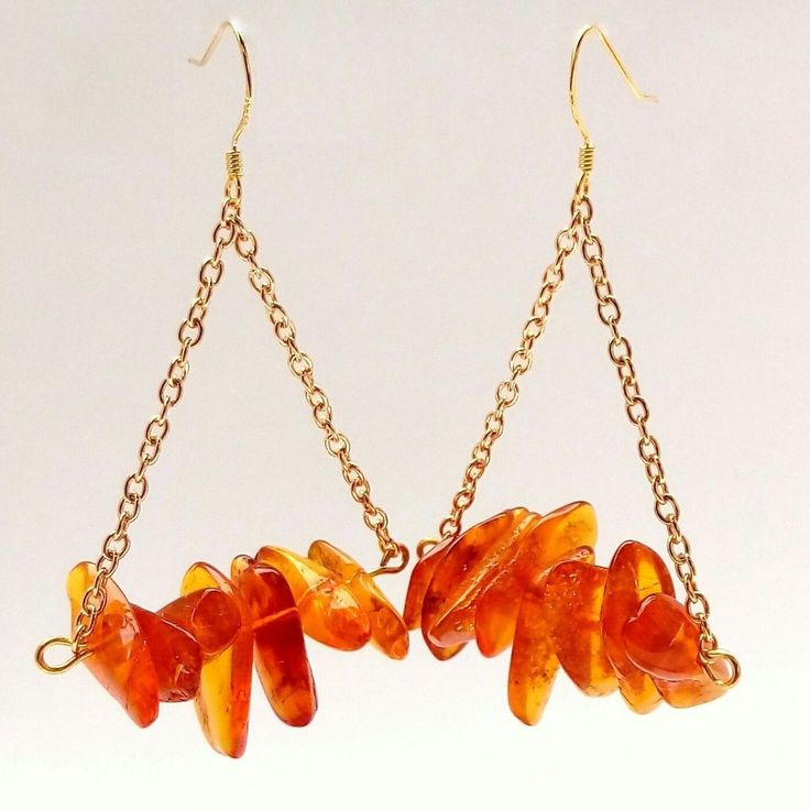 Large gold Amber earrings for you:)