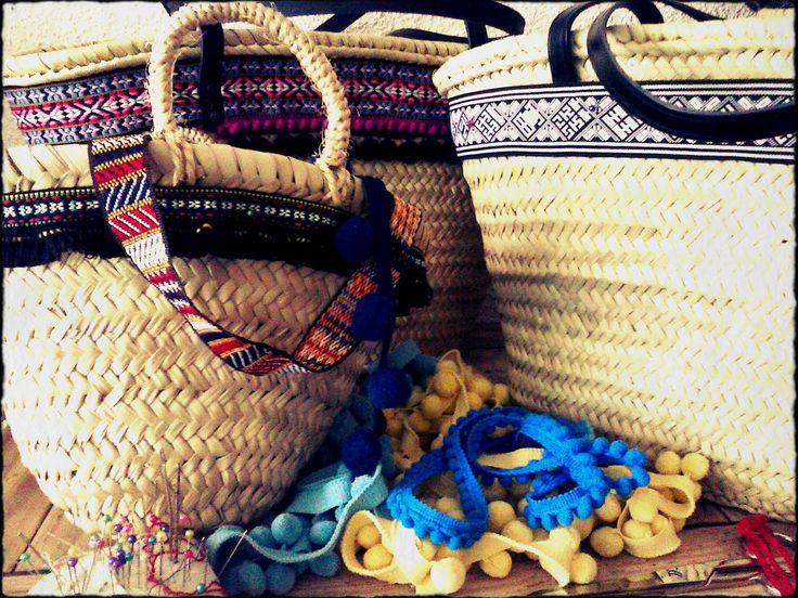 Mediterranean baskets #strawbags #summer #handicraft #madeinspain #welove
