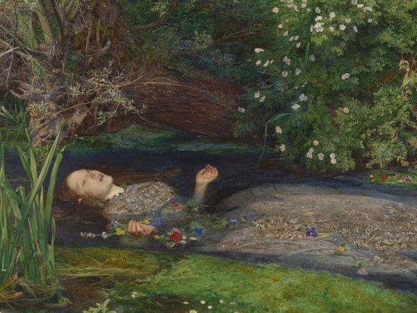 John Everett Millais,Ofelia, 1851-1852, olio su tela.Donato nel 1894 da Sir Henry Tate ©Tate, Londra 2014.