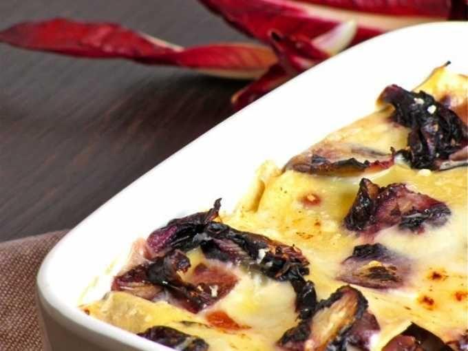 Ricetta Portata principale : Lasagne radicchio e taleggio da Feelcook
