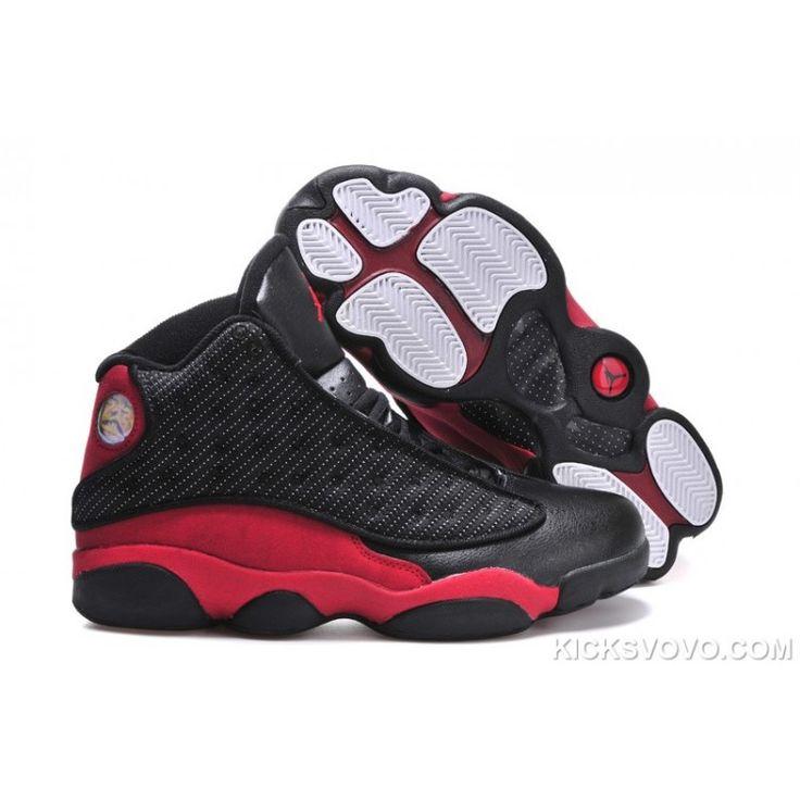 Women's Air Jordan 13 3D Eyes Black Red at kicksvovo.com
